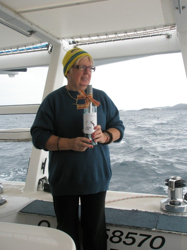 Anne with Bottle in the Southern Ocean
