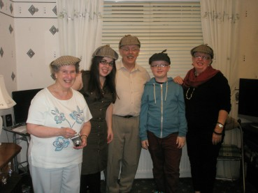 ANNE AND RELATIVES IN GLASGOW –  June 1 2013
