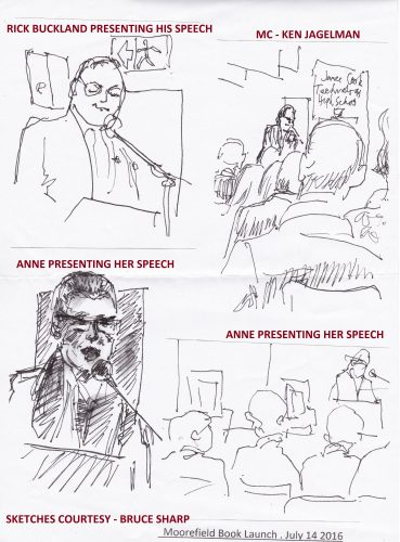 Sketches from my book launch – July 14 2016