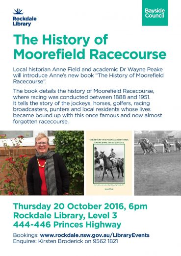 Bayside Council – Invitation to Moorefield Racecourse – Guest Talk