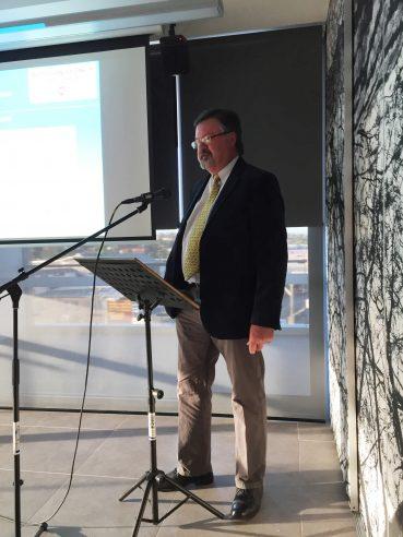 Dr. Wayne Peake addressing the Audience Oct 20 2016
