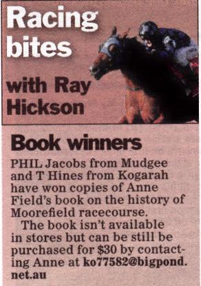 The Sportsman – Book Winners – Nov 11 2016