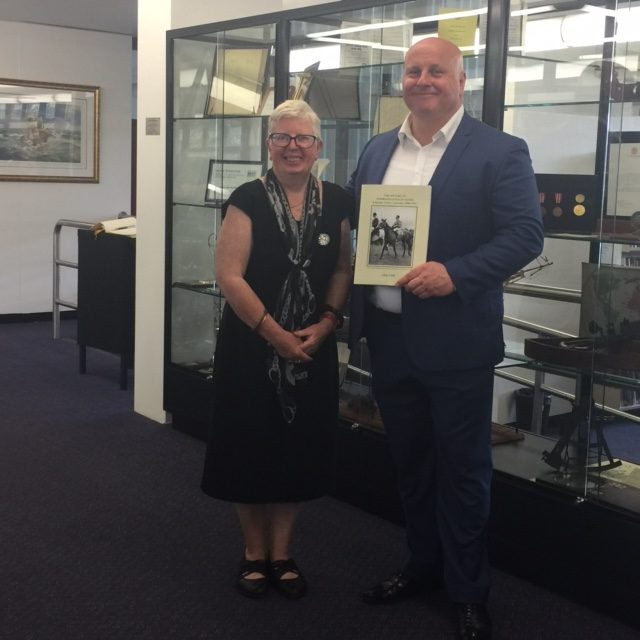 Anne with MARK MARCINIAK, Principal of James Cook Boys Technology High School – Nov 19 2016